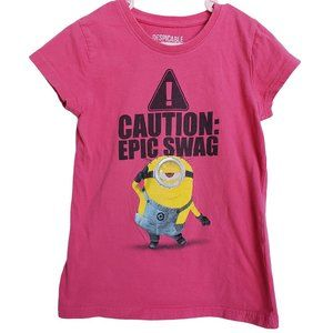 DESPICABLE ME 2 Pink Minion T-shirt S